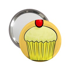 Cake Bread Pie Cerry 2 25  Handbag Mirrors
