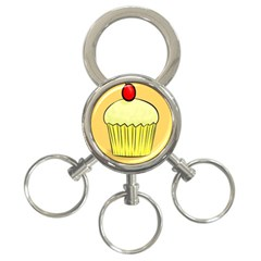 Cake Bread Pie Cerry 3 Ring Key Chains by Alisyart