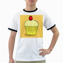 Cake Bread Pie Cerry Ringer T Shirts