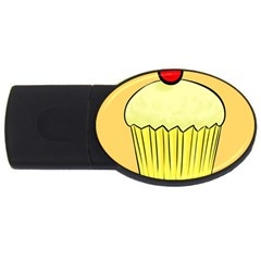 Cake Bread Pie Cerry Usb Flash Drive Oval (4 Gb)