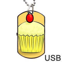 Cake Bread Pie Cerry Dog Tag Usb Flash (two Sides) by Alisyart