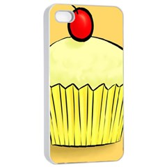 Cake Bread Pie Cerry Apple Iphone 4/4s Seamless Case (white) by Alisyart