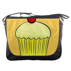 Cake Bread Pie Cerry Messenger Bags by Alisyart