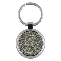 Us Army Digital Camouflage Pattern Key Chains (round)  by Simbadda