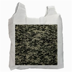 Us Army Digital Camouflage Pattern Recycle Bag (one Side) by Simbadda