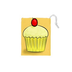 Cake Bread Pie Cerry Drawstring Pouches (xs)  by Alisyart