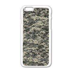 Us Army Digital Camouflage Pattern Apple Iphone 6/6s White Enamel Case by Simbadda