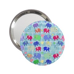 Cute Elephants  2 25  Handbag Mirrors by Valentinaart