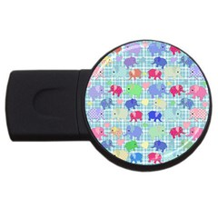 Cute Elephants  Usb Flash Drive Round (2 Gb) by Valentinaart