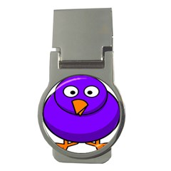 Cartoon Bird Purple Money Clips (round)