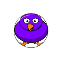 Cartoon Bird Purple Hat Clip Ball Marker (4 Pack) by Alisyart