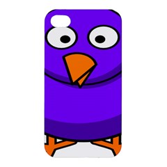 Cartoon Bird Purple Apple Iphone 4/4s Premium Hardshell Case by Alisyart
