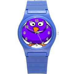 Cartoon Bird Purple Round Plastic Sport Watch (s)