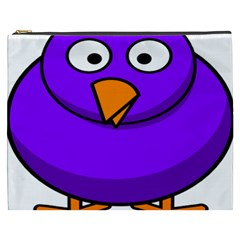 Cartoon Bird Purple Cosmetic Bag (xxxl)