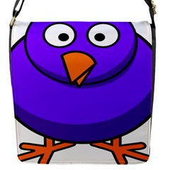 Cartoon Bird Purple Flap Messenger Bag (s) by Alisyart