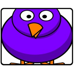 Cartoon Bird Purple Double Sided Fleece Blanket (medium)  by Alisyart