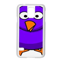 Cartoon Bird Purple Samsung Galaxy S5 Case (white)