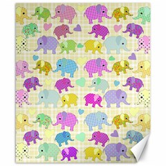 Cute Elephants  Canvas 8  X 10  by Valentinaart