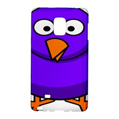Cartoon Bird Purple Galaxy Note Edge by Alisyart