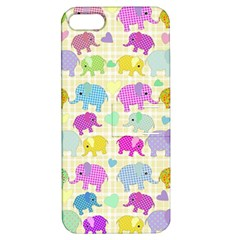 Cute Elephants  Apple Iphone 5 Hardshell Case With Stand