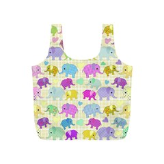 Cute Elephants  Full Print Recycle Bags (s)  by Valentinaart