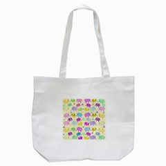 Cute Elephants  Tote Bag (white) by Valentinaart