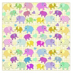 Cute Elephants  Large Satin Scarf (square) by Valentinaart