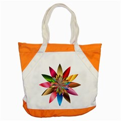 Chromatic Flower Gold Rainbow Accent Tote Bag by Alisyart