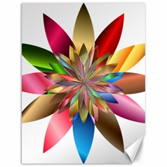 Chromatic Flower Gold Rainbow Canvas 12  X 16   by Alisyart