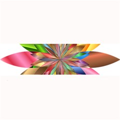Chromatic Flower Gold Rainbow Large Bar Mats by Alisyart