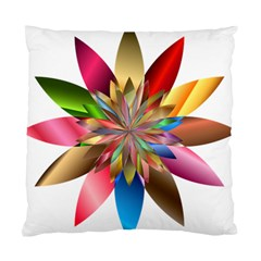 Chromatic Flower Gold Rainbow Standard Cushion Case (one Side) by Alisyart