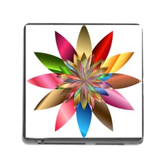 Chromatic Flower Gold Rainbow Memory Card Reader (square) by Alisyart