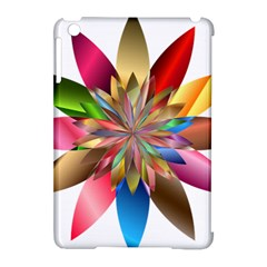 Chromatic Flower Gold Rainbow Apple Ipad Mini Hardshell Case (compatible With Smart Cover)