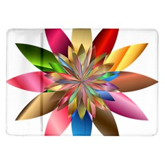 Chromatic Flower Gold Rainbow Samsung Galaxy Tab 10 1  P7500 Flip Case
