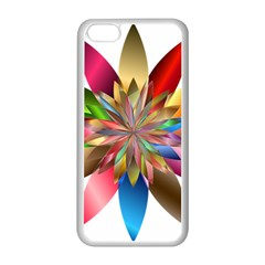 Chromatic Flower Gold Rainbow Apple Iphone 5c Seamless Case (white) by Alisyart