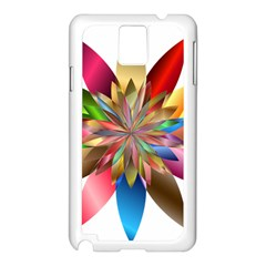 Chromatic Flower Gold Rainbow Samsung Galaxy Note 3 N9005 Case (white)