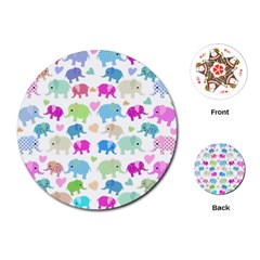 Cute Elephants  Playing Cards (round)  by Valentinaart