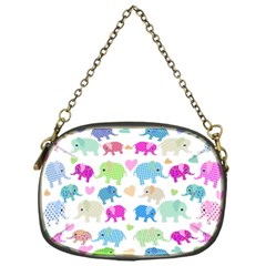 Cute Elephants  Chain Purses (one Side)  by Valentinaart