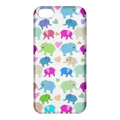 Cute Elephants  Apple Iphone 5c Hardshell Case by Valentinaart