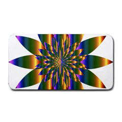 Chromatic Flower Gold Rainbow Star Light Medium Bar Mats by Alisyart
