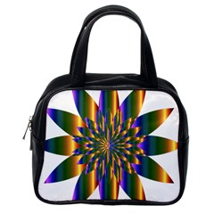 Chromatic Flower Gold Rainbow Star Light Classic Handbags (one Side)