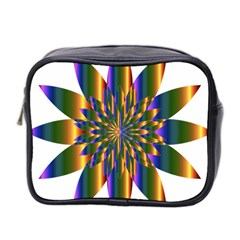 Chromatic Flower Gold Rainbow Star Light Mini Toiletries Bag 2 Side by Alisyart