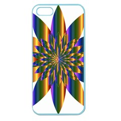 Chromatic Flower Gold Rainbow Star Light Apple Seamless Iphone 5 Case (color)