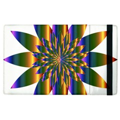 Chromatic Flower Gold Rainbow Star Light Apple Ipad 3/4 Flip Case