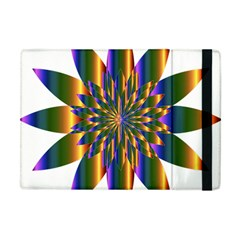 Chromatic Flower Gold Rainbow Star Light Apple Ipad Mini Flip Case by Alisyart