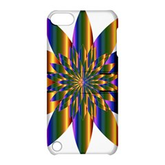 Chromatic Flower Gold Rainbow Star Light Apple Ipod Touch 5 Hardshell Case With Stand by Alisyart