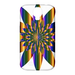 Chromatic Flower Gold Rainbow Star Light Samsung Galaxy S4 Classic Hardshell Case (pc+silicone) by Alisyart