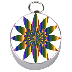 Chromatic Flower Gold Rainbow Star Light Silver Compasses by Alisyart