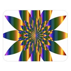 Chromatic Flower Gold Rainbow Star Light Double Sided Flano Blanket (large)