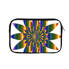 Chromatic Flower Gold Rainbow Star Light Apple Macbook Pro 13  Zipper Case by Alisyart